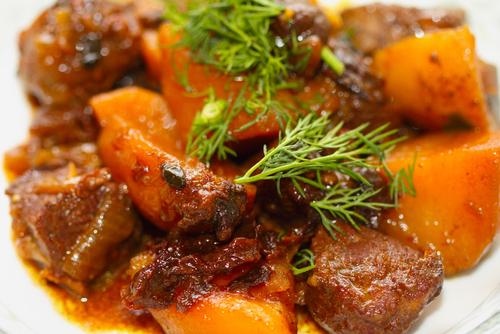 Moroccan Lamb and Kumara Tajine (stew)