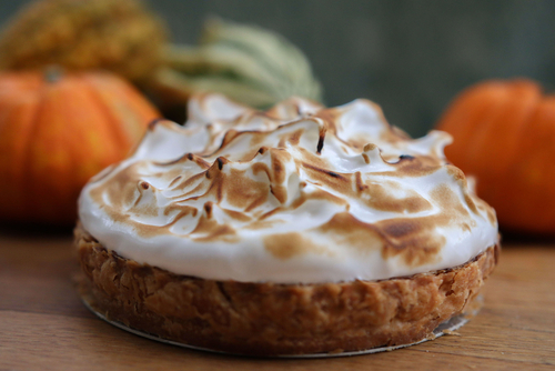 Moroccan Kumara Pudding with Meringue Topping in Orange Cases