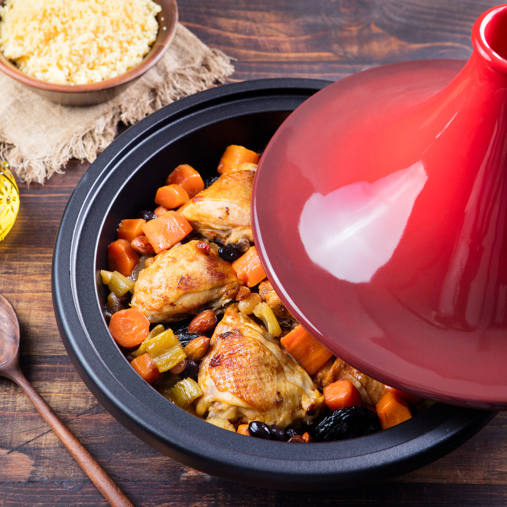 Chicken Tajine with Kumara, Carrots and Prunes