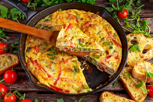Capsicum and Kumara Frittata