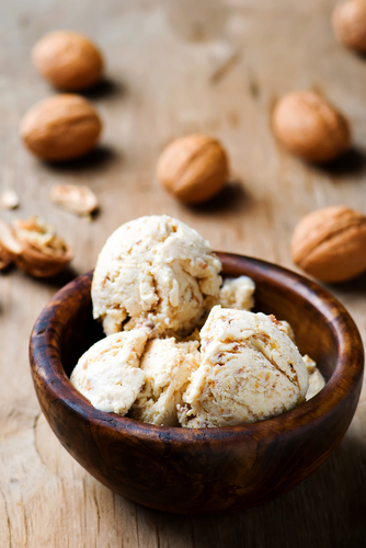 Kumara and Walnut Ice Cream