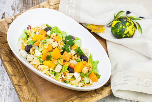 Pan-Roasted Kumara Salad with Ricotta Croutons