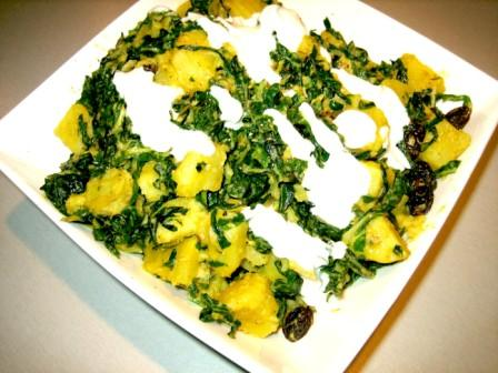 Kumara Saag (Spiced kumara and spinach)