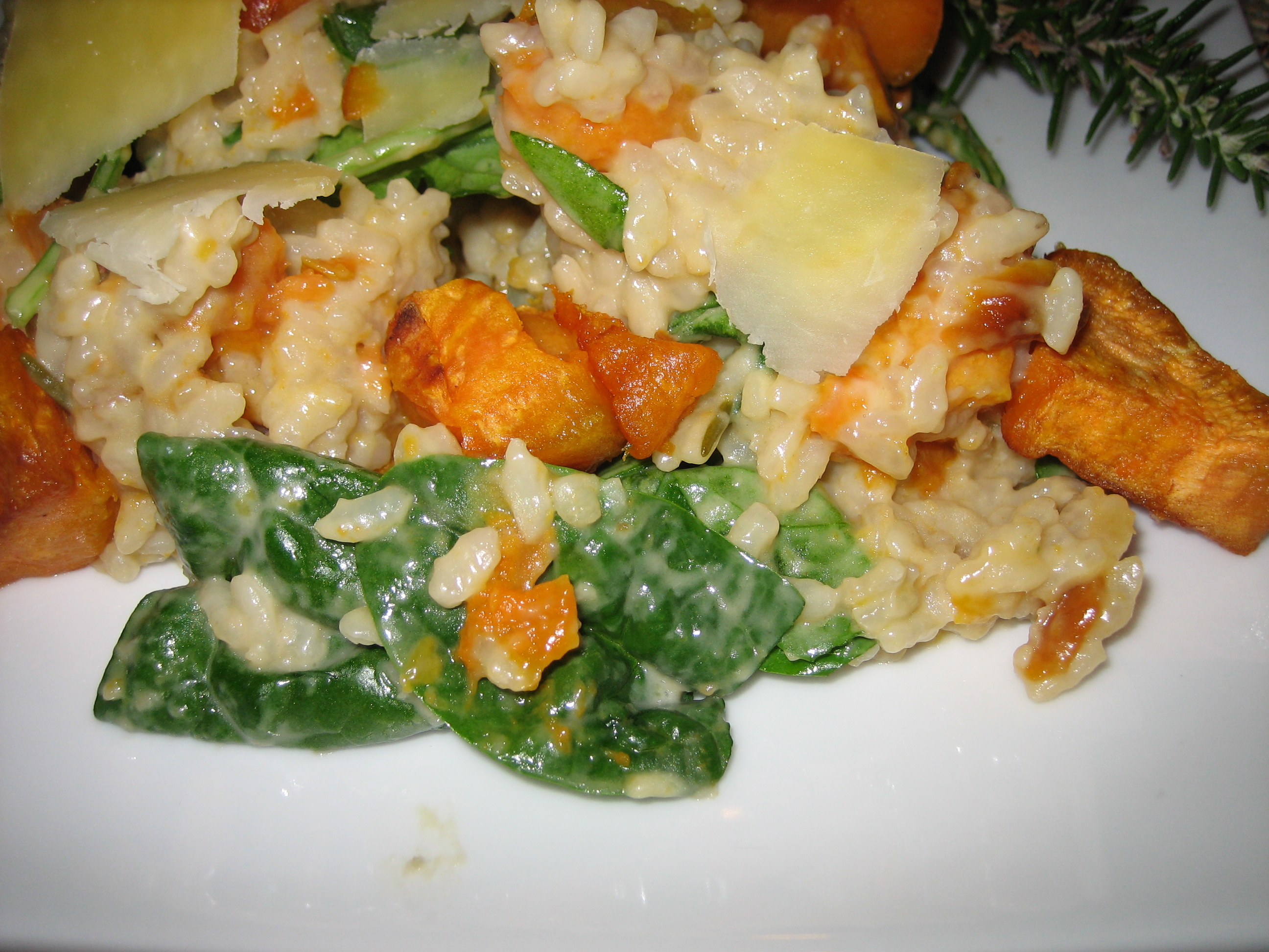 Roasted Beauregard Kumara and Rosemary Risotto