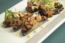 Kumara and Mozzarella Stuffed Portabello Mushrooms