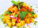 Kumara, Raddish, Pepper and Mint Salad